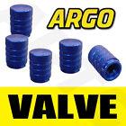 BLUE CHROME ALUMINIUM VALVE DUST TYRE WHEEL CAPS CAR LAND ROVER FREELANDER SUV