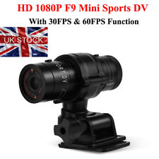 UK BIKE MOTORCYCLE ACTION HELMET SPORTS CAMERA CAM FULL HD 1080P MINI F9/M500 WT