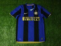 INTER MILAN ITALY 2008-2009 RARE FOOTBALL SHIRT JERSEY HOME NIKE ORIGINAL SIZE S