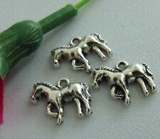 40pcs zinc alloy horse charms 15x12mm 1A792