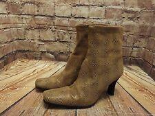 Ladies Moda In Pelle Light Tan High Heel Ankle Boots Size EU 39