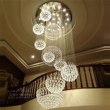 Modern Large DIA80CM Crystal Chandelier Lighting Raindrop Ceiling Light Fixture