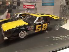 (2) Carrera 27461 Evolution Dodge Charger 500 #58 Analog 1/32 Scale Slot Cars