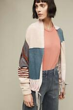 $398 NWT ANTHROPOLOGIE Cashmere Plaid Bomber Sweater Jacket sz. L