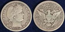 Stati Uniti United States USA QUARTER DOLLAR BARBER 1916 D ARGENTO/SILVER #6047