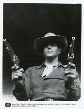 WAYDE PRESTON DUEL SIX SHOOTERS PORTRAIT COLT 45 ORIGINAL 1959 ABC TV PHOTO