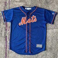 Majestic Mlb New York Mets Yoenis Cespedes Baseball Jersey Youth Large