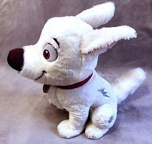 "NEW Disney Store 23"" STAMPED Bolt LARGE Stuffed Plush Sitting White Dog RARE"