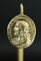 18Thc  Religious medal Jesus Savior of the World Mary Refuge of sinners Pendant