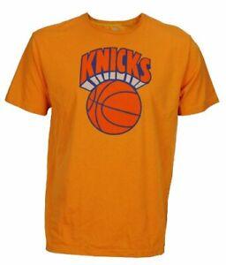 Adidas Men's NBA New York Knicks Short Sleeve Tee Shirt Top, Orange