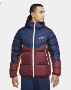 Nike Mens Windrunner Down Fill Puffer Jacket Coat Size S,M,L,XL