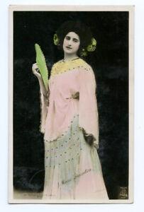 c 1907 British Edwardian Theater MARIE DAUNTON Glamour photo postcard