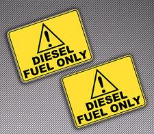 2 Vinyl Decal Stickers Auto Car Van Motorcycle Bike DIESEL FUEL ONLY Logo B 89