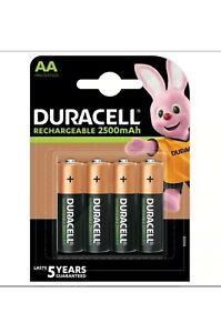 Duracel AA 2500 mph Recharcheable  4 Batteries