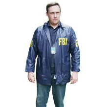 Burt Macklin FBI Windbreaker Jacket Costume Parks And Recreation Rec Andy Dwyer