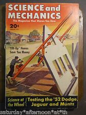 FEB 1952 SCIENCE & MECHANICS Magazine DIY Technology Vintage Ads Military Cars