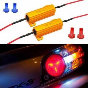 Load Resistors 6-Ohm Fix Turn Signal Light Hyper Flash Blink LED Bulbs Lamps