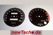 Kawasaki Z1 Z1A Z1000 900 750 schwarze Tachoscheiben Km/h Gauge Tacho dial