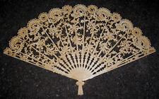 """Vintage Burwood Fan # 4402 Large Ornate Wall Decor Fan 43"""" × 26"""" Vgc"""