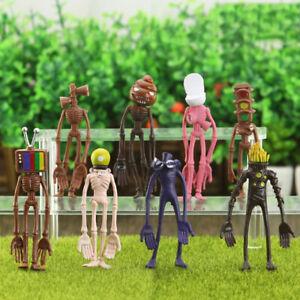 8stk Sirene Kopf Spielzeug Action-figur Sirenhead Figur Horror Modell Puppe Gift