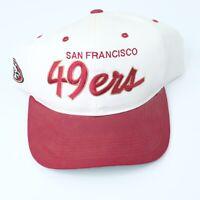 Vtg San Francisco 49ers Sports Specialties Script snapback hat Dark Red Cap
