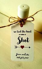 WE TIED THE KNOT TAKE A SHOT - WEDDING FAVOUR GIFT TAGS, WEDDING DAY, pack 12