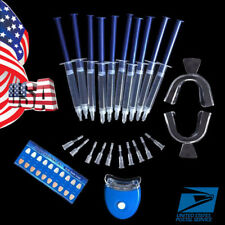 USA Dental Teeth Tooth Whitening Whitener Bleaching LED White Light Oral Gel Kit