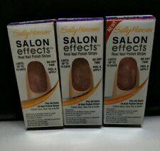 Lot of 3 - Sally Hansen Salon Effects Real Nail Stickers Polish Strips #250