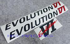 Evolution Evo 6 VI Door & Rear Sticker Decals Set CP9A Ralliart GSR FREE SHIP