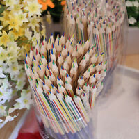 10pcs Rainbow Colorful Pencil 4 in 1 Colored Pencils For Drawing Stationery Gift