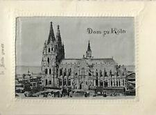 More details for silk woven postcard - rare - 1901 - dom zu koln