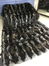 Luxury Crystal Fox Fur Throw Real Fox Fur Blanket / Bedspread  Big Size