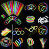 1X 100Pcs Glow Sticks Neon Party Wedding Magic Bracelets Necklaces Fluorescent