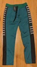 Hommes Authentique Dolce Gabbana Logomania Vert/Noir Piste Pantalon 52 US 36