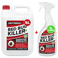5 1l Strong Bed Bug Killer Spray Aerosol Flying Crawling Insect Insecticide Home