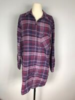 Orvis Outdoors Purple and Red Plaid Long Sleeve Shirt Dress Women's M