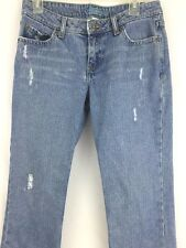 Aeropostale Denim Blue Jean Women's Distressed Cropped  Size: 5/6