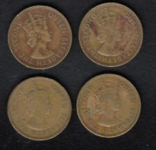 4 HONG KONG COIN , 10 CENT 1960 ,1956,1957,1959 YEAR