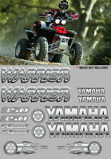 Warrior yamaha Decal White/Silver Full Color Sticker Graphic 14pc ATV QUAD, 350,