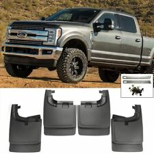 Front Rear 4PCS Splash Mud Guards Flaps For 17-18 Ford Super Duty Without Flare