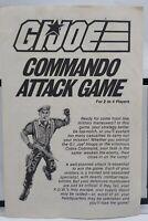 Hasbro Bradley GI Joe Commando Attack Game Instruction Manual 1985 4516-X1 A3