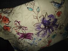 Target Room Essentials Watercolor Sketch Floral (1) Standard Pillow Sham 20X26