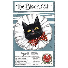 The Black Cat Magazine Cover Art Deco FRIDGE MAGNET, 1896 April Mini Gift
