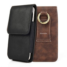 Vertical Leather Pouch Case Cover Belt Holster With Card Slot For Apple iPhone