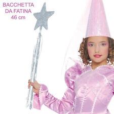 BACCHETTA DA FATA TURCHINA FATINA ARGENTO CON GLITTER CARNEVALE GUIRCA 16381