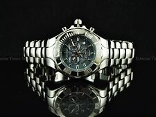 TechnoMarine Men 45mm Sapphire Cruise Chrono Silver Chrome Ceramic Braelet Watch