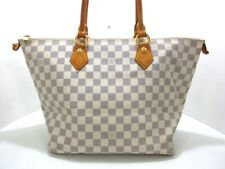 Auth LOUIS VUITTON Saleya MM N51185 Azur Damier FL4037 Handbag Damier Canvas