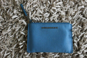 Burberry Blue Zip Wallet- Made in Italy