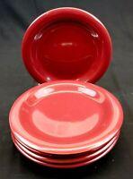 Gibson Everyday China Dark Red Burgundy Maroon 8 inch Salad Plates -Set of 5