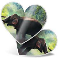 Jungle Elephant Wild Animal  #42301 bw 2 x Vinyl Stickers 10cm